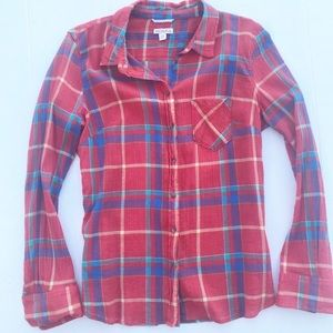 Merona Lightweight Plaid Button Down Shirt